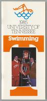 University of Tennessee Swimming-Diving media guide, 1984-1985