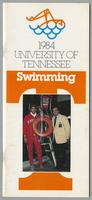 University of Tennessee Swimming-Diving media guide, 1983-1984