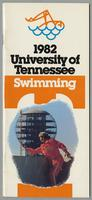 University of Tennessee Swimming-Diving media guide, 1982