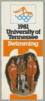 University of Tennessee Swimming-Diving media guide, 1981