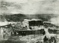 Barracks for Federal troops