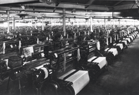 Cotton looms at Brookside Mills