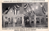 Interior of the Appalachian Exposition's Main Building