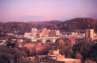 Aerial view of Knoxville, Tennessee
