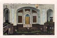 Auditorium of the First Baptist Church