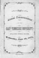 Commencement of East Tennessee University, 1875 Spring