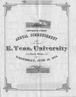 Commencement of East Tennessee University, 1878 Spring
