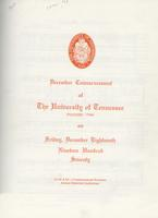 Commencement of the University of Tennessee, Knoxville, 1970 Fall