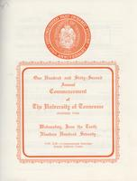 Commencement of the University of Tennessee, Knoxville, 1970 Spring
