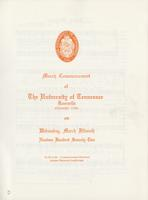 Commencement of the University of Tennessee, Knoxville, 1972 Winter