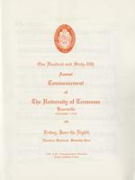 Commencement of the University of Tennessee, Knoxville, 1973 Spring