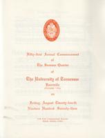 Commencement of the University of Tennessee, Knoxville, 1973 Summer