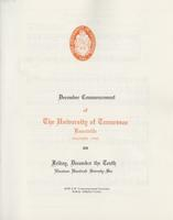 Commencement of the University of Tennessee, Knoxville, 1976 Fall