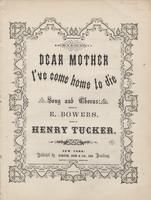 """Dear mother, I've come home to die"""