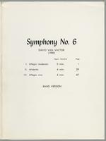 Symphony no. 6 for winds and percussions