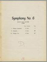 Symphony no. 6 for winds and percussion