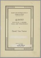 Quintet for flute and strings