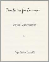 Five etudes for trumpet