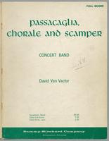 Passacaglia, chorale and scamper