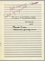 Music for woodwinds vol. I