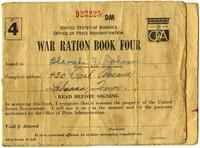 Blanche F. Johnson`s World War II Ration Book