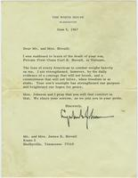 Lyndon B. Johnson to Mr. and Mrs. Stovall