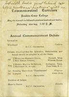Commencement Exercises, Annual Commencement Debate