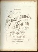 The Constitution As It Is. The Union As It Was.