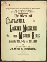 Battles of Chattanooga, Lookout Mountain and Misson Ridge