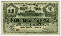 Delegate's ticket to the Republican National Convention