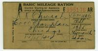 WWII Mileage Ration Book
