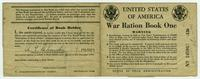 WWII War Ration Book One