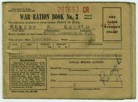 WWII War Ration Book No. 3