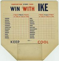 Score card and fan from 1948 Republican National Convention
