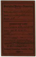 Socialist Party of America membership card