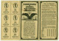 United States War-Savings certificate