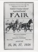 Sumner County Colored Agricultural Fair poster, 1938