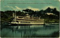 Cumberland River Steamer passing through Clarksville, Tenn.