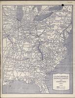 Map of the Clinchfield Railroad Company and its connections