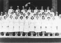 Nurses and dormitory at the Mountain Branch of the National Home for Disabled Volunteer Soldiers