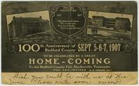 Bedford County Homecoming Postcard