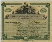 Bedford County Fair Stock Certificate