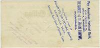 George W. Stephens' check to the Gainesboro Telephone Company