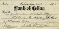 George W. Stephens' check to the Gainesboro Telephone Company
