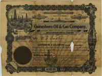 Gainesboro Oil [amp] Gas Company Stock Certificate