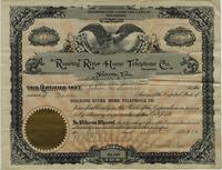 Roaring River Home Telephone Stock Certificate