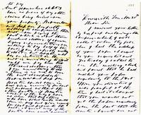 Letter from J. Crozier Ramsey to his father, J.G.M. Ramsey