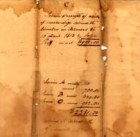 Invoice and receipts of articles of merchandize delivered [to] the Cherokees 1813 Mar. 13