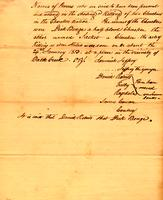 [Legal report consisting of the] names of persons charged with the killing of Cherokee Indians on or about Jan. 24, 1813