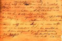 [Certification of noncitizenship to the Cherokee Nation, 1834]